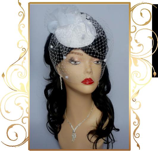 Фото 810151 в коллекции Свадебные шляпки, вуалетки - Кнауб Ольга - Свадебные аксессуары