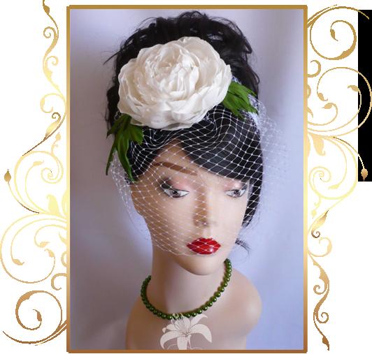 Фото 810193 в коллекции Свадебные шляпки, вуалетки - Кнауб Ольга - Свадебные аксессуары