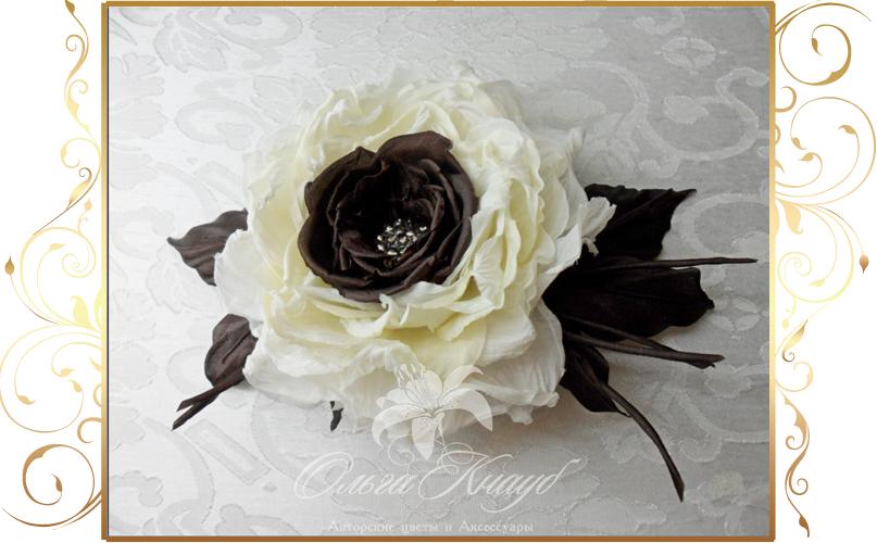 Фото 810229 в коллекции Цветы из шелка - Кнауб Ольга - Свадебные аксессуары