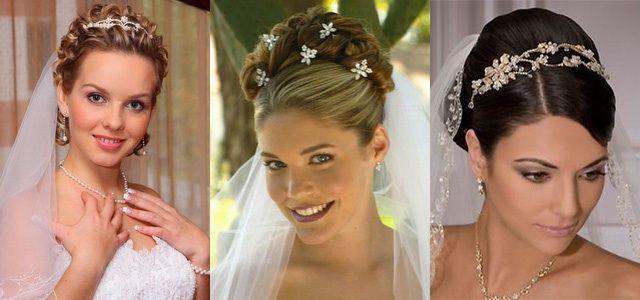 Прически для невесты с фото на средние волосы с челкой