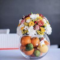 композиция на столы гостям с фруктами
