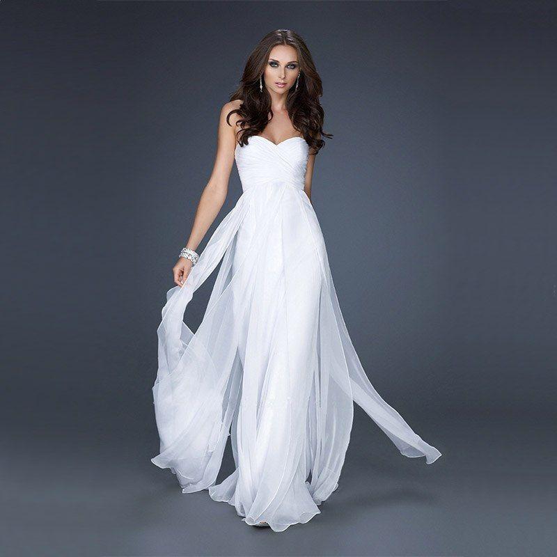 Картинки платья длинные и белых