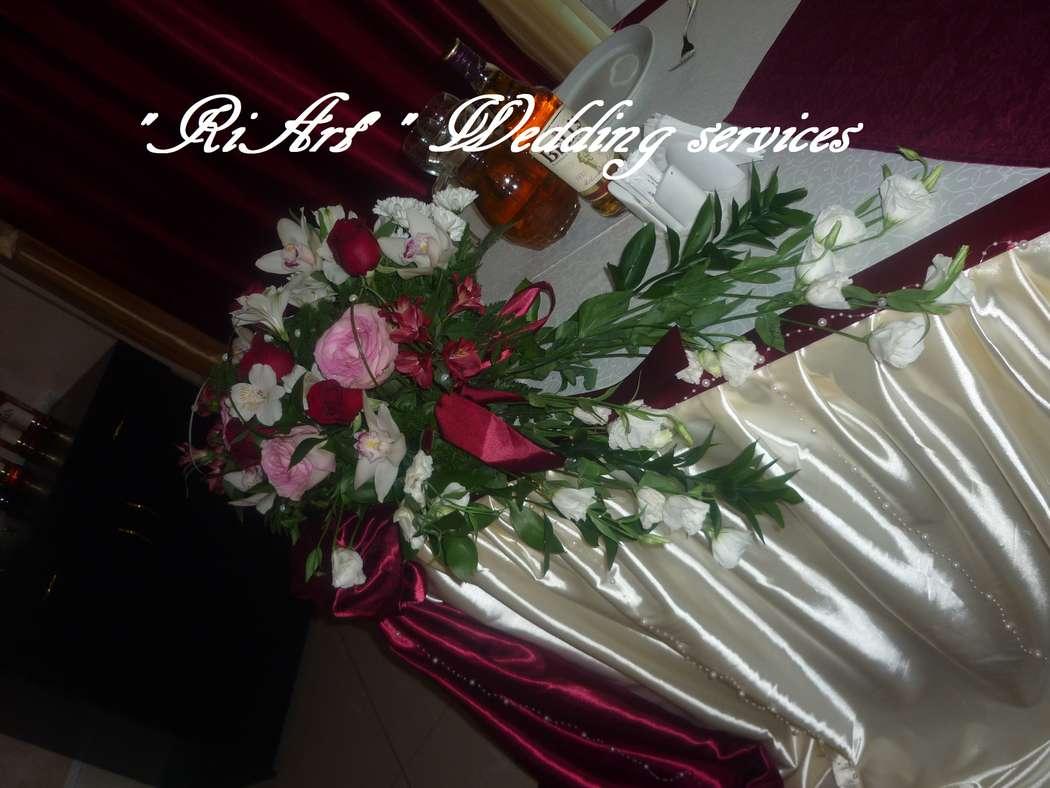 """Декор банкетного зала Чайхана Шоли. Роскошный бордо. - фото 1745123 """"RiArt"""" - свадебные услуги декора"""