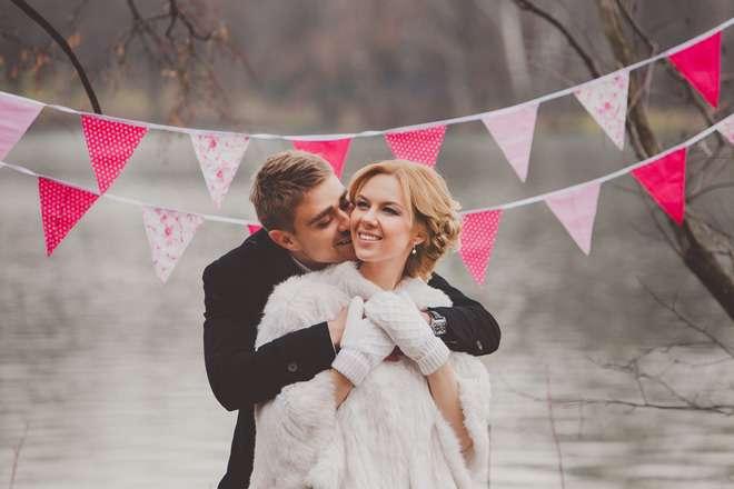 нежно-розовые флажки на свадебную фотосессию - фото 1800477 La Fleur Dеcor - свадебный декор для фотосессий
