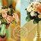 Букет невесты в мятном цвете, мятно-золотой стиль