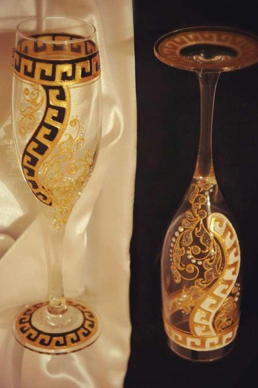 """Бокалы на свадьбу в греческом стиле! - фото 12178898 Дизайн-студия """"Ярко"""""""