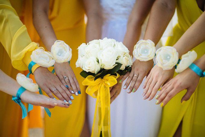 Бутоньерки для подружки невесты своими руками