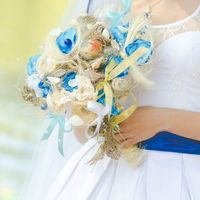 необычный букет невесты в морском стиле