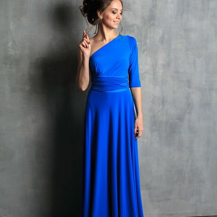 Платье-трансформер макси с рукавом