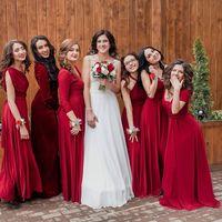 Подружки невесты в цвете Бордовый(Марсала) Свадьба в г. Ульяновск