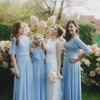 Подружки невесты в цвете Серенити свадьба в г.Челябинск
