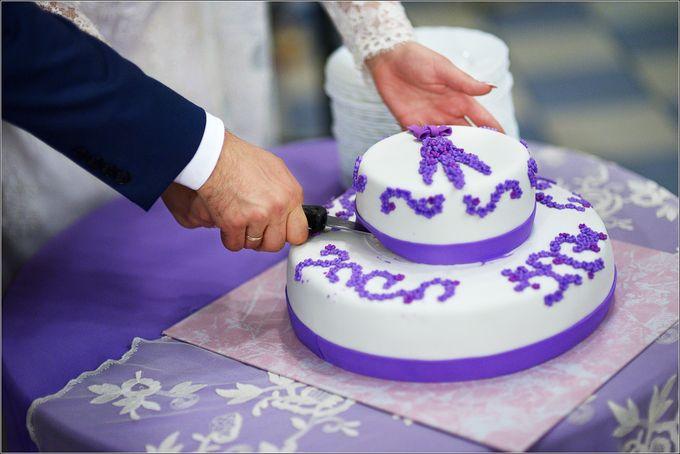 Двухярусный свадебный торт фото