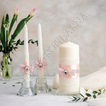 """Свадебные свечи """"Пудра"""""""