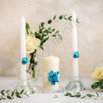 """Свадебные свечи """"Бирюза"""""""