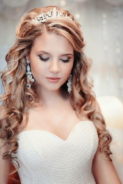 Локон прически для невест