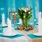 Ореховые венки, салфетки под тарелки, дорожки из льна с кружевным принтом и композиции на столы - все это я и моя семья)