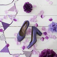 сиреневый, фиолетовый, флажки, гирлянды, лепестки, туфли