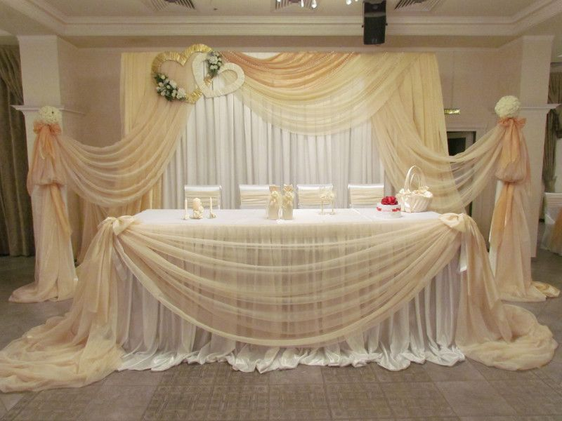Украшения зала свадебного зала своими руками