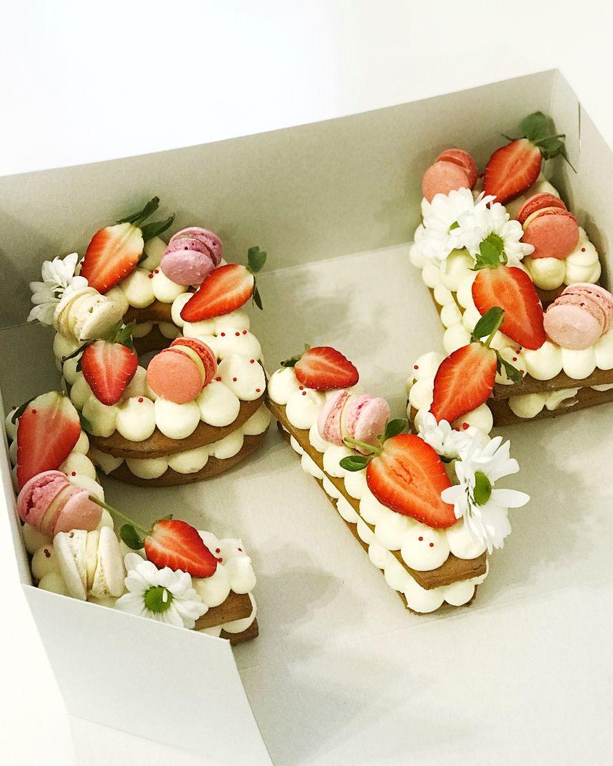 """Торт """"Вкусные буквы"""" - фото 17665316 Sweet - кафе-кондитерская"""