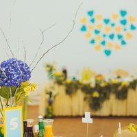 Желтый декор. Голубой бирюзовый декор