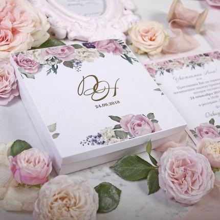 Приглашение Pink Rose в коробочке