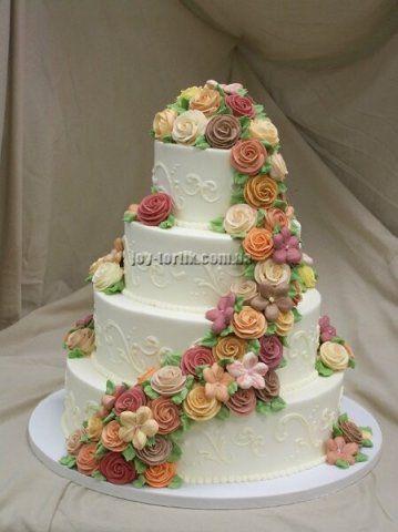 Фотографии свадебных тортов киев
