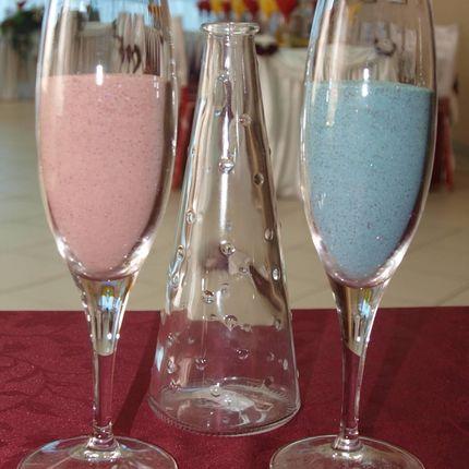 Цветной цветной песок для свадебной церемонии