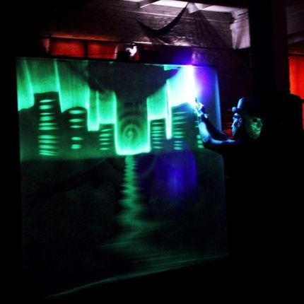 Анимационное шоу световых картин