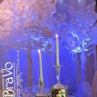 """Свадьба в стиле """"Зимняя сказка"""" Олега и Татьяны 5 декабря  2015 года со стеклянными подсвечниками. напоминающими лед..."""