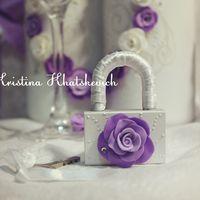 """Свадебный замочек """"В фиолетовом цвете"""""""