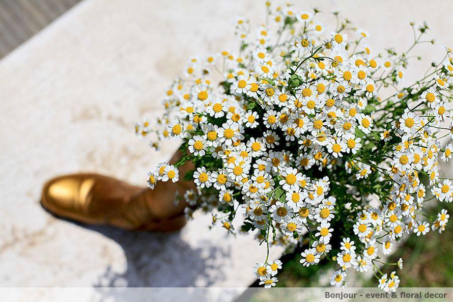 Букет из белых ромашек. - фото 3361197 Bonjour decor - студия авторского декора