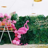 """Надпись с оцифровкой и последующим изготовлением из пластика """"Tropical party Marina 30 years"""""""