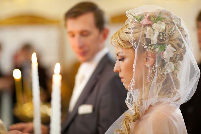 Фото свадебных причесок для венчания