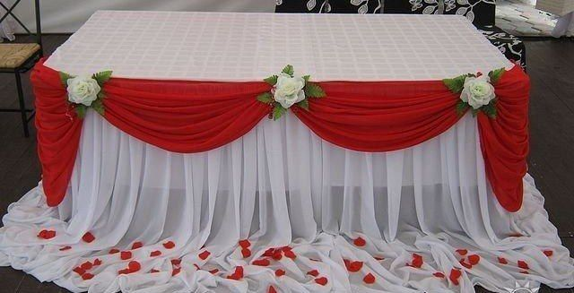 Скатерть на стол своими руками на свадебный стол