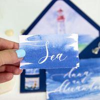 Акварельные приглашения в морском стиле
