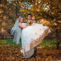 Осенняя фотосессия в Сокольниках, желтые листья.