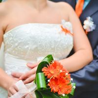 Букет невесты из оранжевых гербер