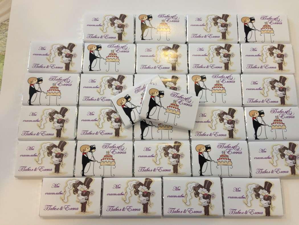Свадебные шоколадки - вкусный сюрприз для Ваших гостей! 40р./шт. от 30шт. - фото 9990072 Типография Калибр - свадебные приглашения