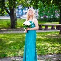 Подружка невесты в бирюзе