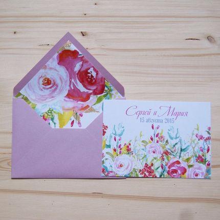 """Приглашение на свадьбу """"Summer roses"""""""