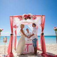 Свадебная беседка в розовых тонах