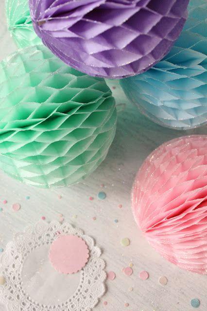 Бумажные шары-соты мастер класс