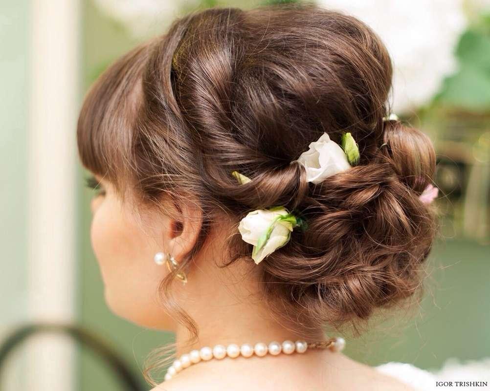 Свадебная прическа - фото 2260366 Стилист визажист Светлана Зулаева