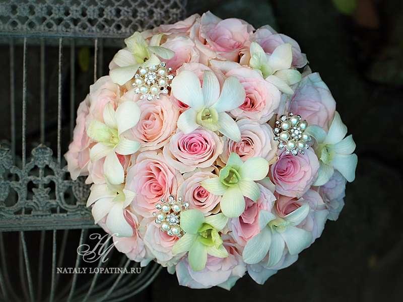 Букет невесты с орхидеей дендробиум - фото 3132099 Наталья Лопатина - флорист-дизайнер