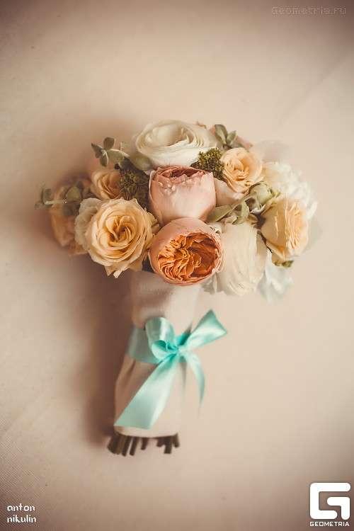 Фото 2292808 в коллекции Оформление свадьбы в бежево-голубых тонах - Творческое Ателье - декорирование свадебных торжеств