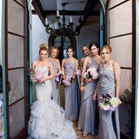 Невеста и её подружки в сером