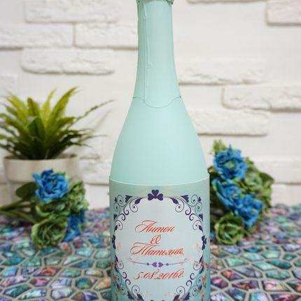 """Этикетки на шампанское """"Цветущая сакура"""""""