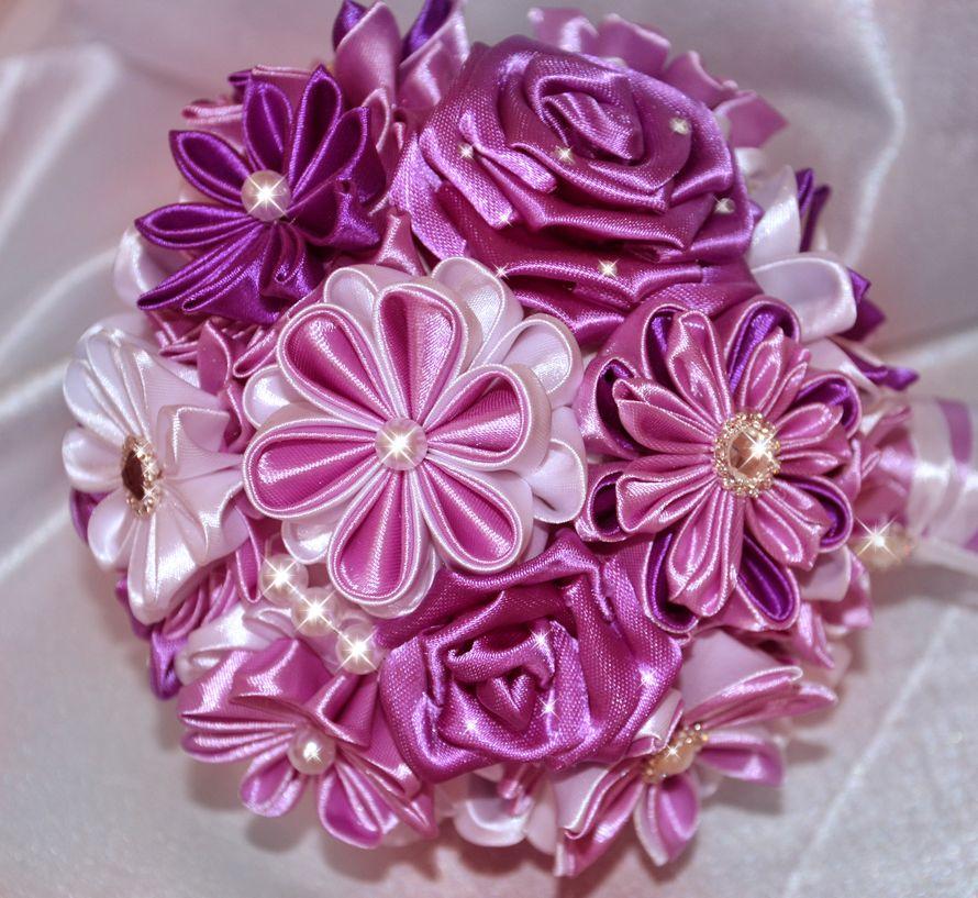 Букеты для невестпошагово канзаши, лилия купить