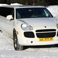 Porsche Cayenne, белый лимузин