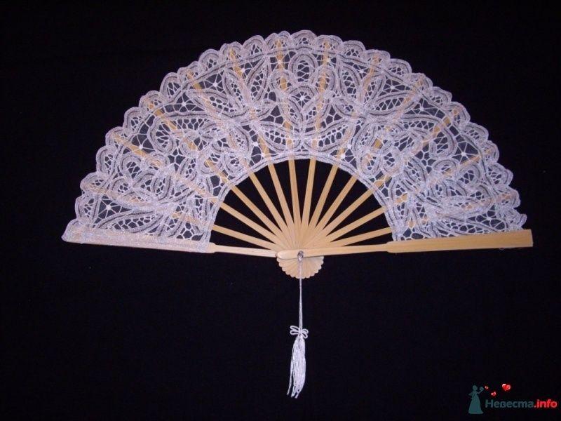 """кружевной веер (белый) - фото 422026 Агенство """"Свадебный кортеж"""""""